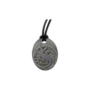 Pendentif bronze Maison Targaryen, Game of Thrones