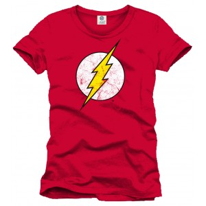T-Shirt Flash logo rouge