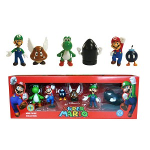 Pack 6 Figurines Super Mario