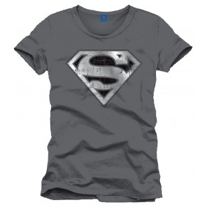 T-Shirt Superman Logo, anthracite