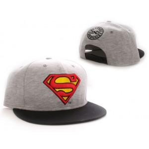 Casquette baseball Superman grise : Logo