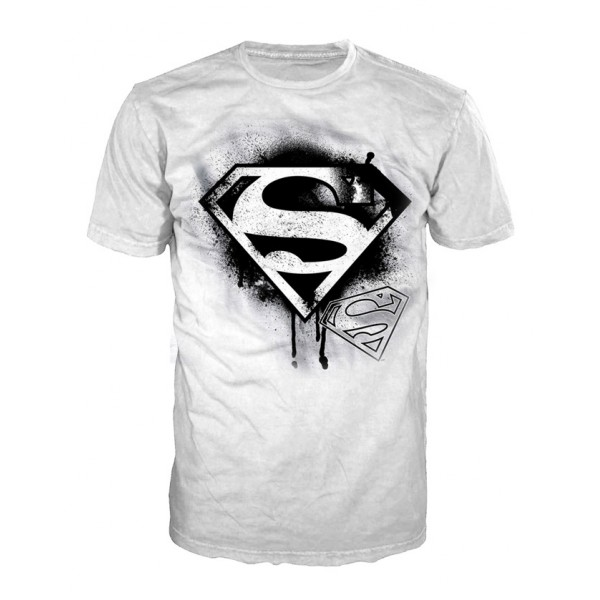 t shirt superman logo impression graffiti. Black Bedroom Furniture Sets. Home Design Ideas