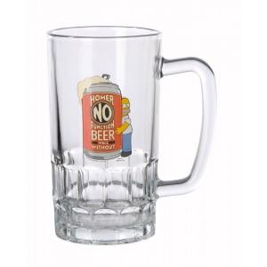 Chope en verre Homer No Function, The Simpsons