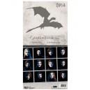 Calendrier 2014 Game Of Thrones Anglais/Espagnol