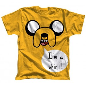 "T-shirt jaune Jake ""I'm a shirt !"" - Adventure Time"
