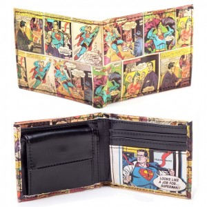 Portefeuille Superman comic vintage