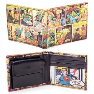 Portefeuille Superman comic vintage