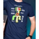 T-shirt bleu Anatomy of a Creeper - Minecraft