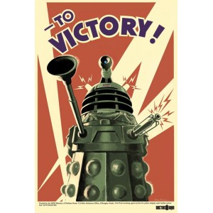 "Poster Doctor Who : Dalek ""To Victory"""