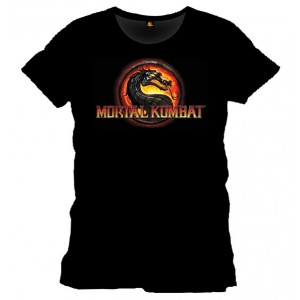 T-shirt Mortal Kombat noir : Logo Dragon