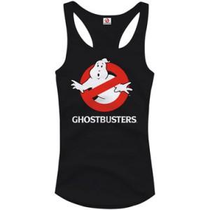 Débardeur Ghostbusters femme logo noir ou gris