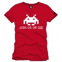 T-Shirt Space Invaders Join Us Or Die