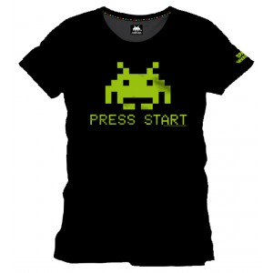 T-Shirt Space Invaders Press Start