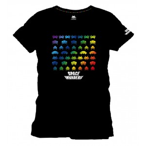 T-Shirt Space Invaders Rainbow