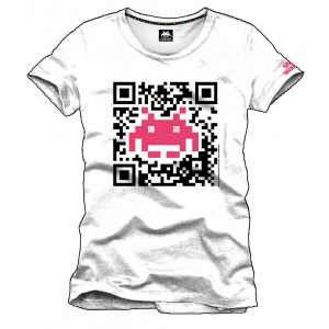 T-Shirt Space Invaders Code QR