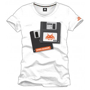 T-Shirt Space Invaders Disquette
