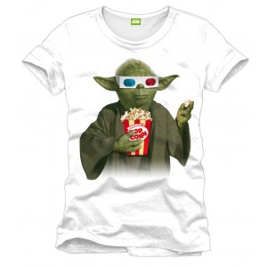T-Shirt Star Wars Yoda Pop Corn