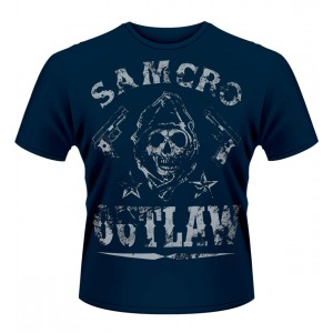 T-Shirt Sons of Anarchy bleu Outlaw