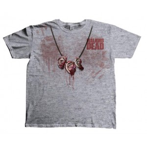 T-Shirt The Walking Dead Dixon Ear Necklace