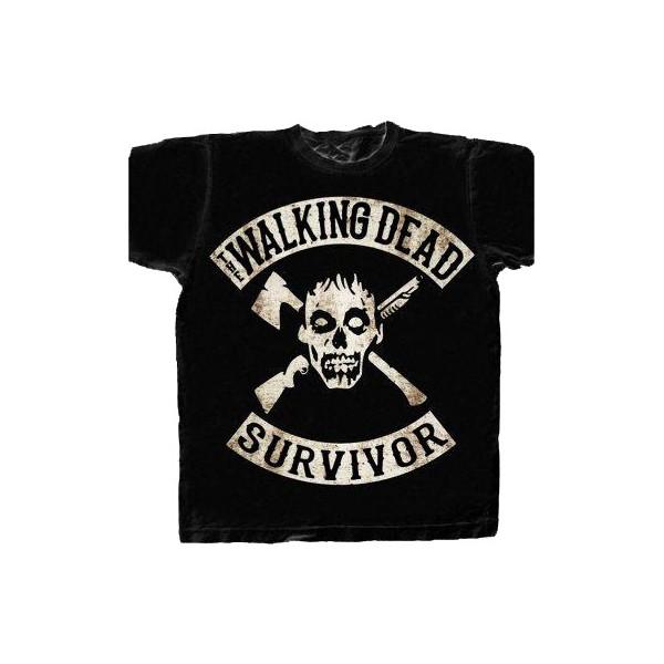 t shirt the walking dead survivor. Black Bedroom Furniture Sets. Home Design Ideas