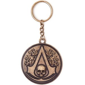 Assassin´s Creed IV Black Flag Metal Key Ring Round Crest Logo
