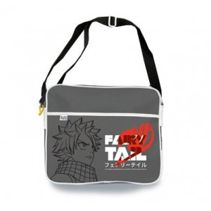 Sac bandoulière Fairy Tail gris : Katakana