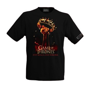 "T-Shirt Game of Thrones, ""Five Kings, One Throne"""