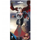Man Of Steel metal keychain Superman's silhouette