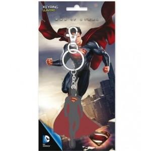 Porte-clé métal Man Of Steel silhouette Superman