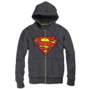 Grey Superman sweater with hoodie