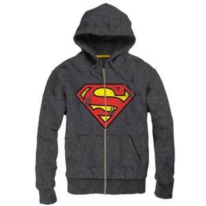 Sweater à capuche Superman gris