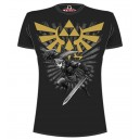 T-shirt noir Zelda Link : Warrior
