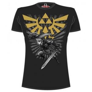 T-shirt noir Zelda Link : Warrior