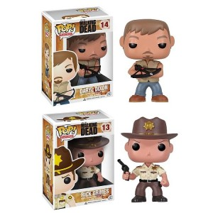 2 figurines The Walking Dead de la collection Pop! vinyle