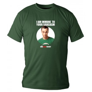 "T-Shirt The Big Bang Theory ""I Am Immune"""