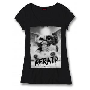 T-Shirt Gremlins Afraid noir ou blanc