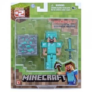 Figurine Diamond Steve 8cm - Minecraft