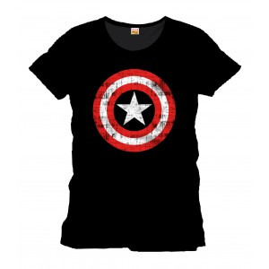 T-shirt Captain America noir