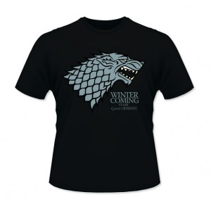 "T-Shirt Game Of Thrones, ""Winter Is Coming"""
