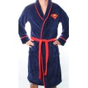 Blue Superman fleece bathrobe from DC Comics