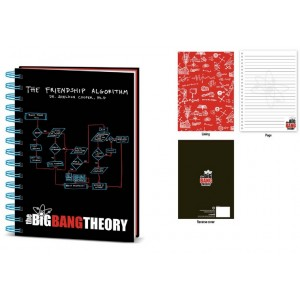 Cahier à spirale A5 The Big Bang Theory : Friendship Algorithm