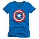 Captain America T-Shirt Shield Logo blue