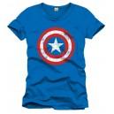 Captain America T-Shirt Shield Logo blue
