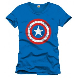 T-shirt Captain America bleu