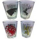 Set of 4 shooters | Game Of Thrones houses