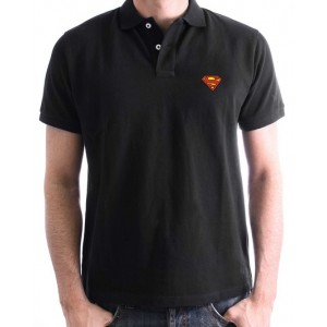 Superman polo : cobalt, navy blue or black