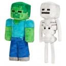 Peluches Zombie et Squelette de Minecraft