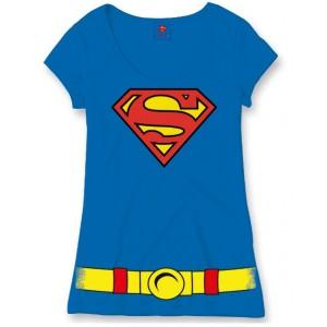 t shirt costume superman femme. Black Bedroom Furniture Sets. Home Design Ideas