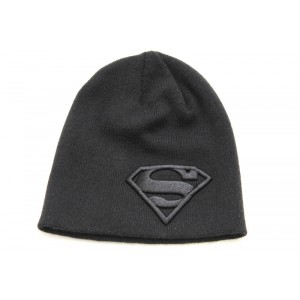 Bonnet Superman logo gris ou bleu